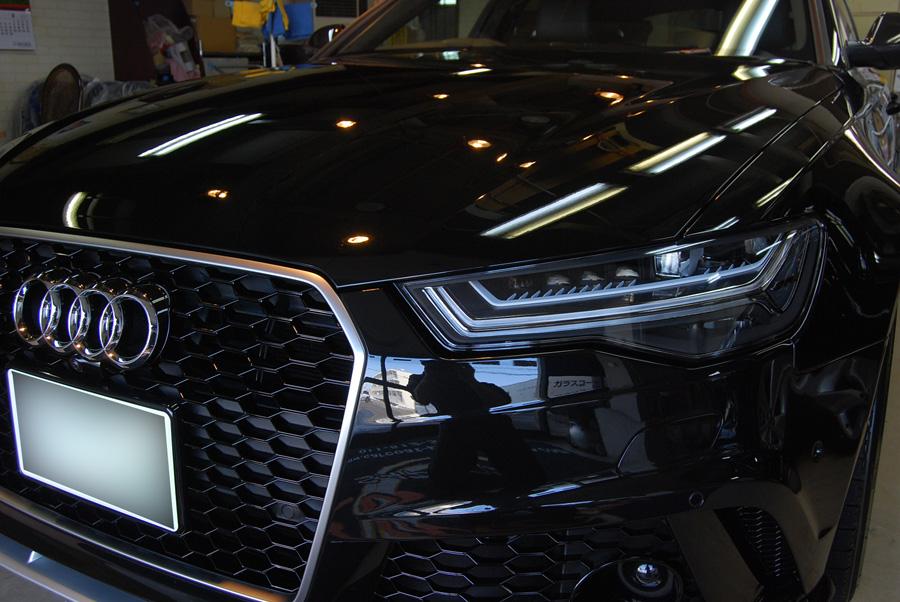 アウディ・RS6のガラスコーティング完成いたしました!