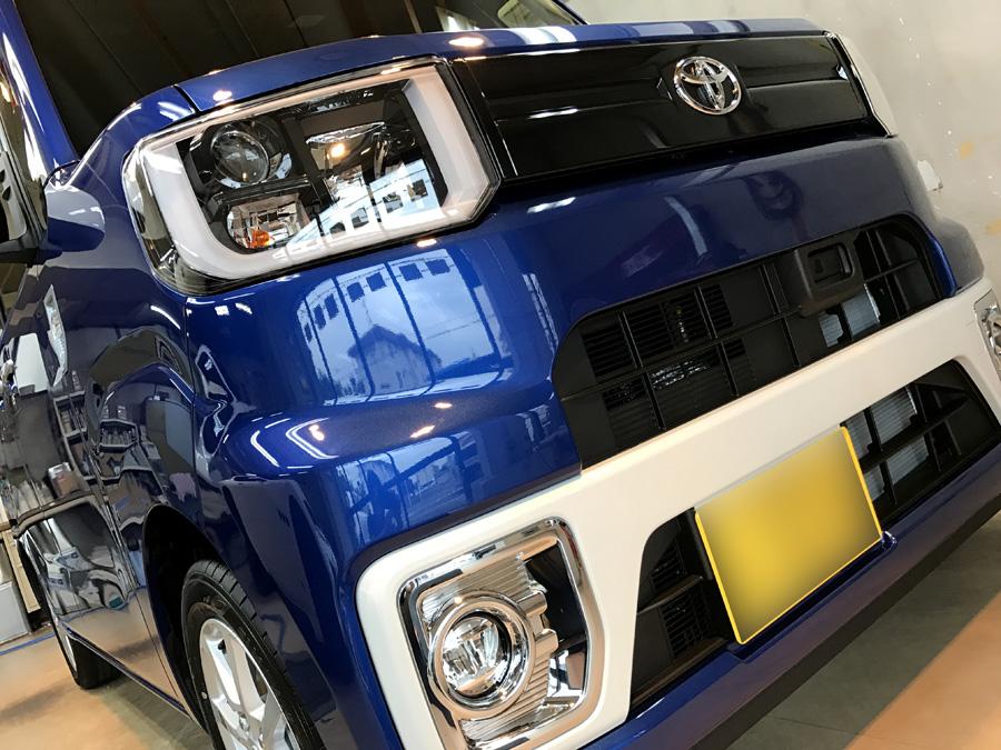 トヨタ・ピクシスメガのガラスコーティング完成いたしました!