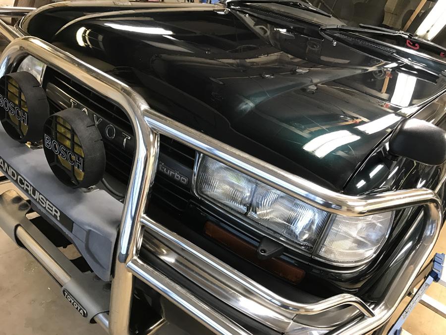 トヨタ・ランドクルーザー80ご入庫いただきました!