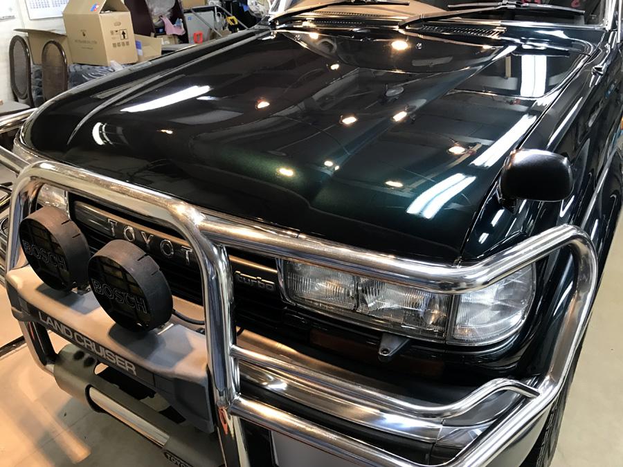 トヨタ・ランドクルーザー80のガラスコーティング完成いたしました!