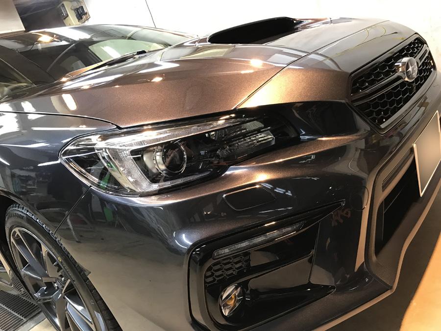 スバル・WRX S4のガラスコーティング完成いたしました!