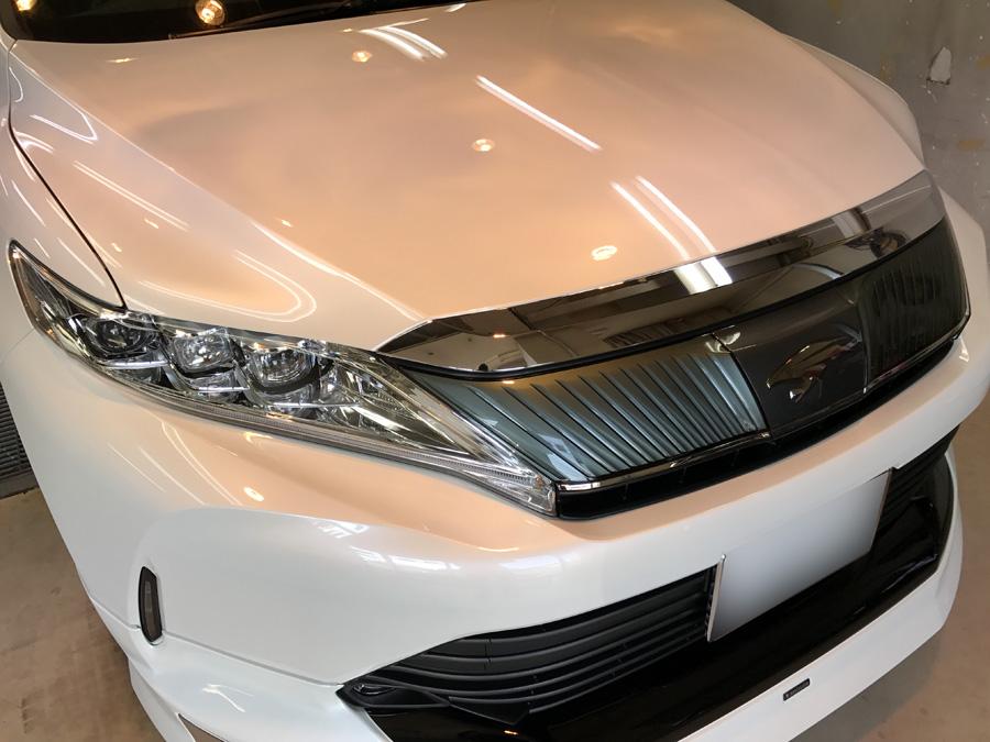 トヨタ・ハリアーのガラスコーティング完成いたしました!